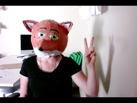 How to make a paper mache fox mask/head