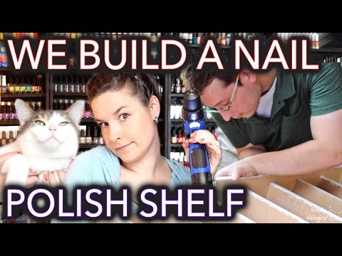 How to (sort of) build a nail polish shelf/rack