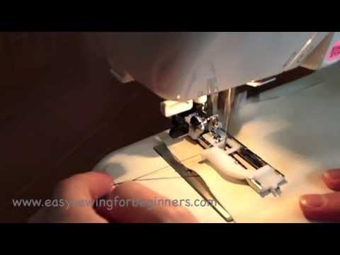 How to Sew a Buttonhole Using The Automatic Buttonhole Janome 'R' Foot