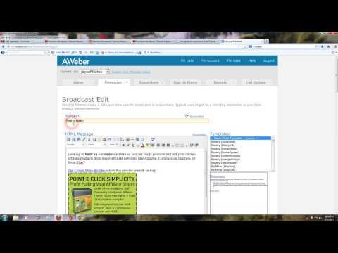 Aweber How To Create An Email Broadcast With Clickable Links Training Video