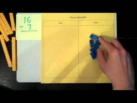 Subtraction With Regrouping Using Base Ten Blocks