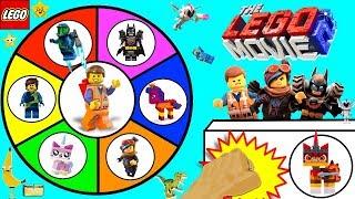 THE LEGO MOVIE 2 Spinning Wheel Game w/ SURPRISE TOYS + LEGO 2 MINIFIGURES