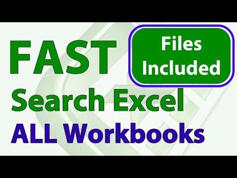 Fast Excel Search on Multiple Workbooks - VBA Macros