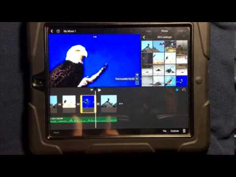 How to add pictures over sound to the timeline in iMovie for the iPad