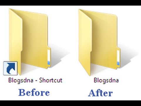 How To Remove The Windows Shortcut Arrow From Desktop Icons