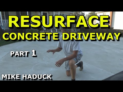 How I resurface a concrete driveway (Old School)-Part 1 of 2- Mike Haduck