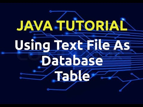 Java Tutorial : Text File As Database Table | Episode 1 | Insert Data In Table