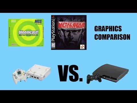 Metal Gear Solid - PS3 vs. Dreamcast Graphics Comparison