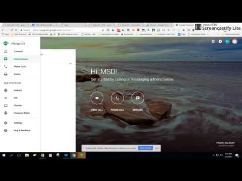 Google Hangouts Webinar