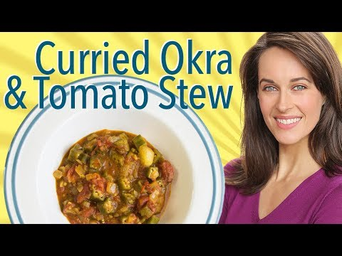 Curried Okra & Tomato Stew Recipe Demo: How to Cook Okra, Stewed Okra & Tomatoes