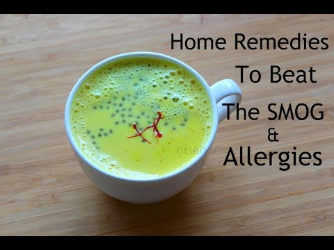 6 Home Remedies For Allergies, Air Pollution - Beat The Smog With Turmeric Milk/Golden Milk