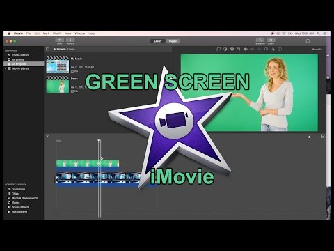 iMovie 10 Quick Green Screen Tutorial