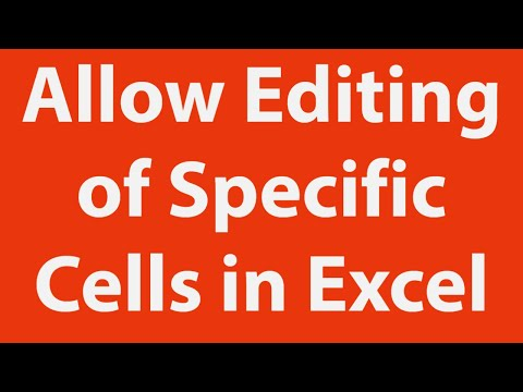 Protect Worksheet and Allow Specific Cells Editing Using Excel VBA