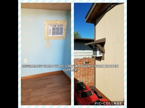 INSTALL WINDOW AC UNIT INTO WALL WITH HIDDEN OUTLET AND AWNING!