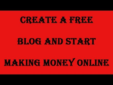 Create a free blog and start making money online. Make your own blog with a few clicks of a button