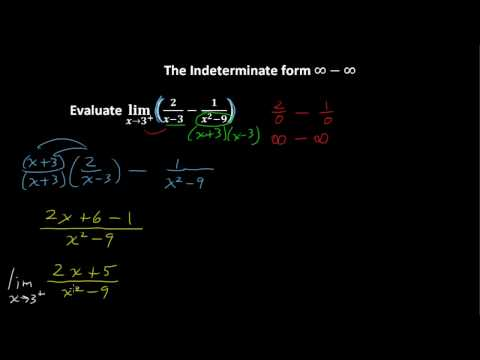 Indeterminate Form Infinity - Infinity