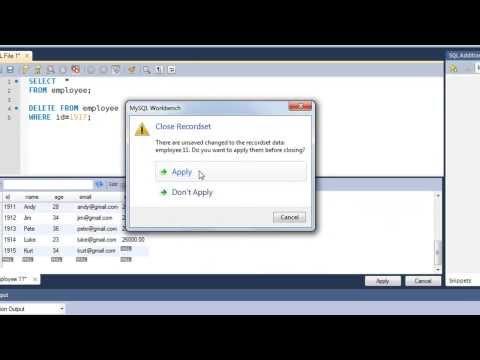 SQL Tutorial - 22: The DELETE Query