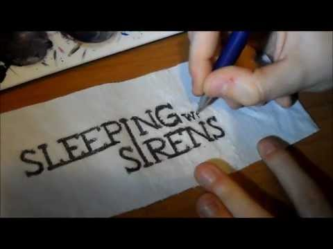 DIY SLEEPING WITH SIRENS cuff-bracelet