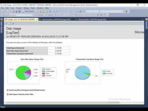 21 Clear Transaction Log in SQL Server