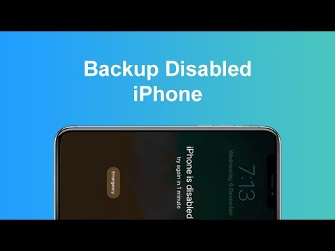 How to Backup Disabled or Locked iPhone