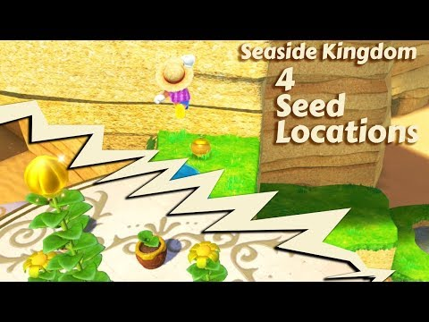 Seaside Kingdom - 4 Seed Locations - Super Mario Odyssey