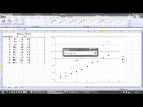 Superimposed plots in excel