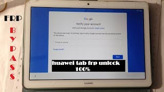 Huawei Mediapad T3 10 AGS-L09 Remove google account bypass frp