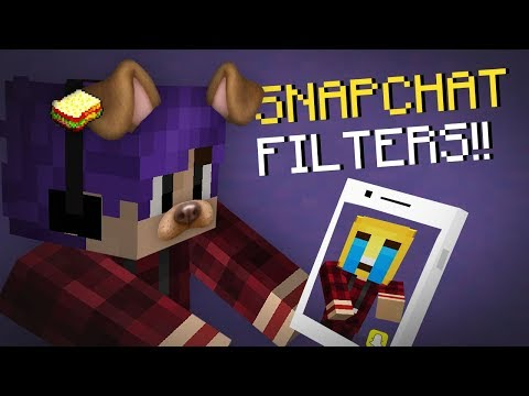 Minecraft | How to make a Working Snapchat filters | No Mods