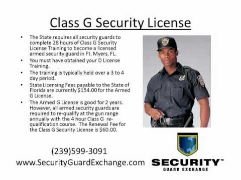 Florida Class G Security License Ft. Myers