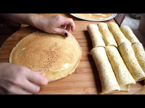 How to make Blinchiki (Pancakes with Filling)