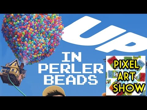 Perler Bead Tutorial: House from UP - Pixel Art Show