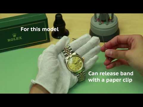 Tutorial : How to find serial number and model number on a Rolex Watch.