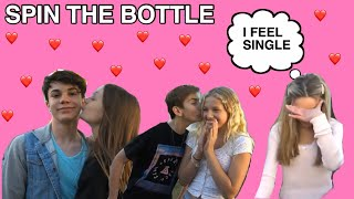 LAST TO SAY NO to Spin The Bottle *Valentines Day Kiss CHALLENGE*😘💋|Jenna Davis