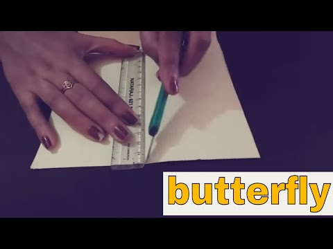Paper butterfly!! How to make a butterfly from paper (hindi) | cool and creative #5