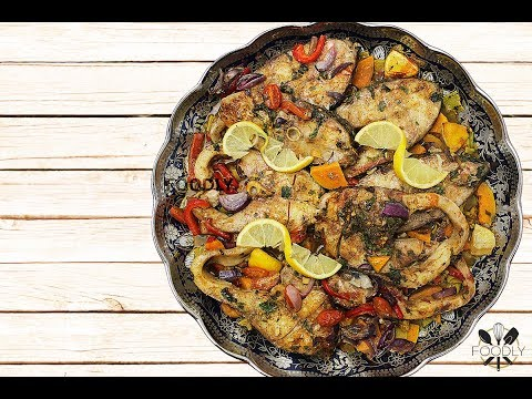 PIKE - PERCH ( FISH ) AND SWEET POTATOES OUT OF THE OVEN   RECIPE