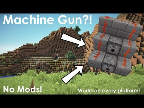 Minecraft | How to Make a Machine Gun (No Mods)