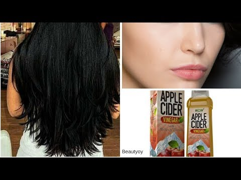 2 Ways to use Apple cider vinegar for Clear skin and Silky Hair