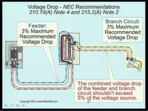 Voltage Drop 1 of 2 - NEC Recommendation, NEC 2014 - 210.19(A)(1) (7min:06sec)