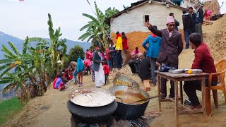 Real Traditional Village Marriage   Wedding Party in Village    Daily routine of village life