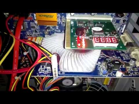 PC Tool Kit Motherboard Diagnostic Card in Action