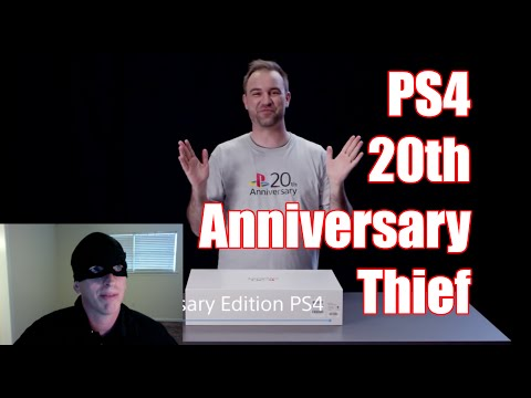 Stolen Playstation 4 20th Anniversary Edition | New PS4 Look for 20th Anniversary Parody