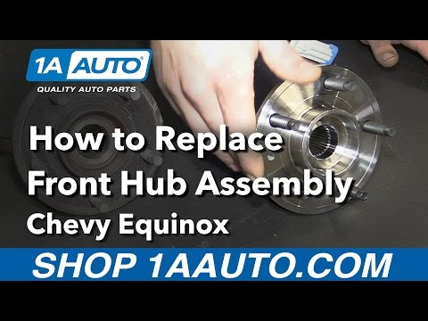 How to Replace Install Front Hub Assembly 08 Chevy Equinox