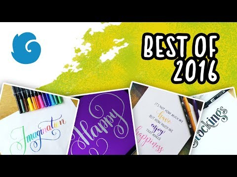 Calligraphy Compilation – Best of 2016