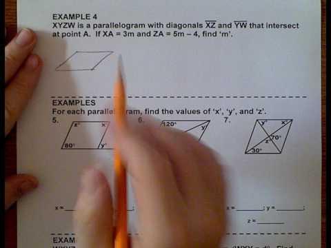 Geometry (Topic 6-1) Parallelograms