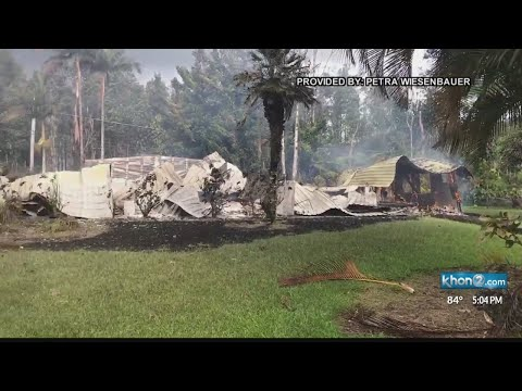 Bed and breakfast in Leilani Estates destroyed by lava