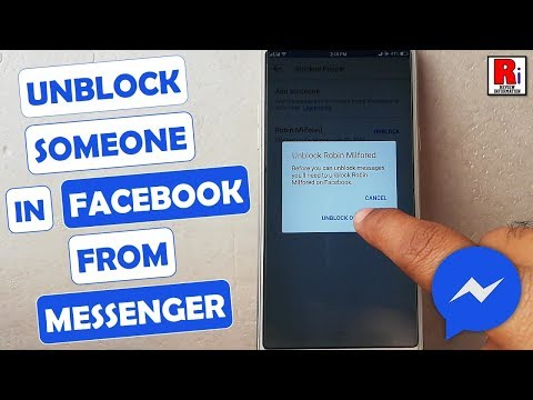 HOW TO UNBLOCK SOMEONE IN FACEBOOK FROM MESSENGER