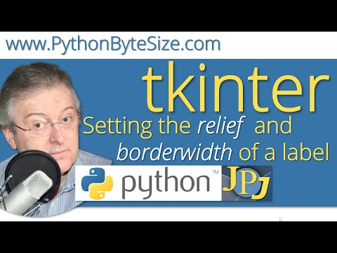 Setting the look of the border of a Python tkinter label