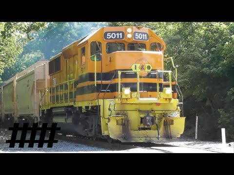 Indiana and Ohio Railway 5011 EMD GP50 at Lawrenceburg Rd RR Crossing in North Bend, OH
