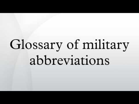 Glossary of military abbreviations
