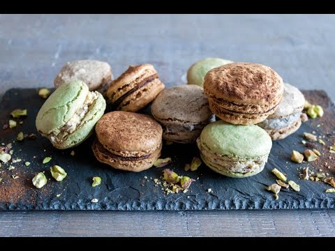 How to make tiramisu, pistachio, and cookies and cream French macarons- 4 Mins or Less Recipe